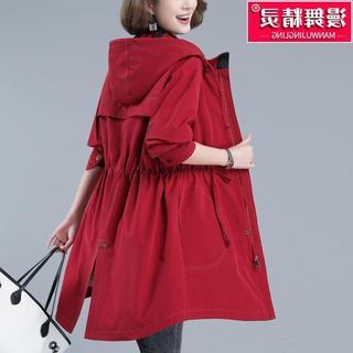 风衣女中长款妈妈秋装2020年新款大码女装工装大衣小个子春秋外套