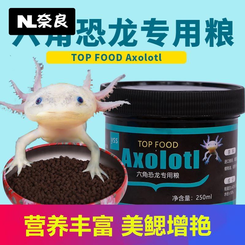 六角恐龙鱼粮食饲料六角龙鱼饲料六六娃娃鱼西方蝾螈饲料鱼食专用