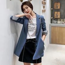 新款 韩版 休闲宽松复古小个子西服 网红chic小西装 外套女2019秋装