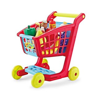 Shopping Pretend Trolley Kids Supermarket Simulate Play Cart