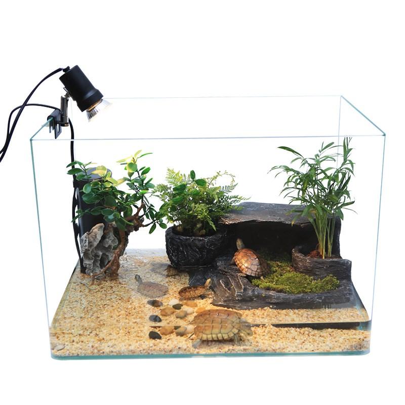养螃蟹专用缸水陆缸造景家用创意客厅小型别墅乌龟缸带晒台两用缸,可领取2元天猫优惠券