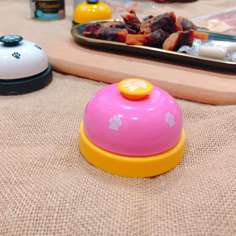 Package pet cute footprints call meal bell cat and dog trainer Teddy dog ringer dog intelligence toy bell