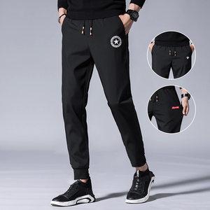 秋冬韩版潮流男士宽松束脚子运动裤