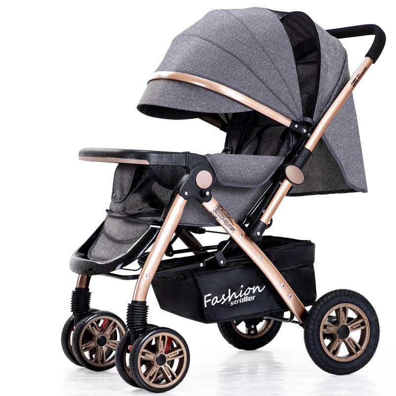 liuncy高景观婴儿可坐可躺双向推车质量怎么样