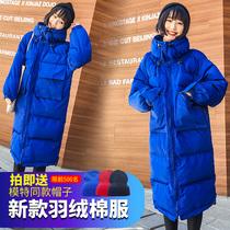 棉衣女中长款2019新款韩版时髦羽绒棉服女大码外套特卖棉袄面包服
