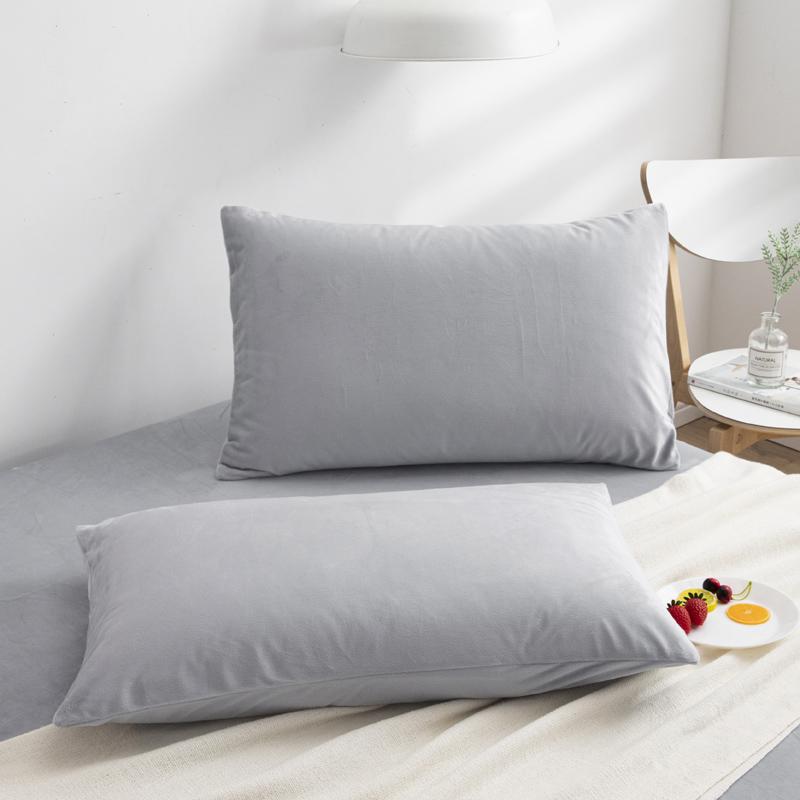 特价枕套单只 秋冬加厚保暖水晶绒枕套一对装48*74单人学生枕头套