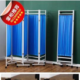 折叠屏经济型隔断墙滑轮中式卫生间简易双面诊所隔离屏风4折叠移图片