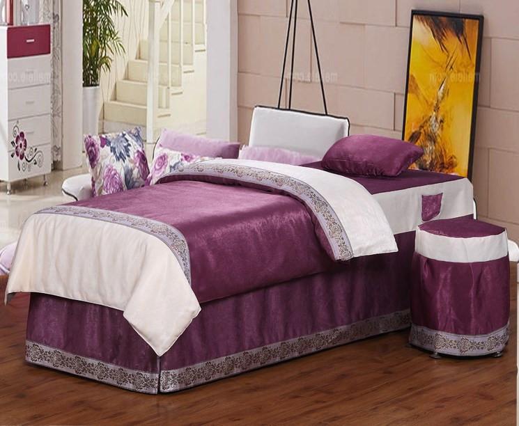 美容床罩四件套欧式 韩式三件套田园风 美体通用套装定制单件
