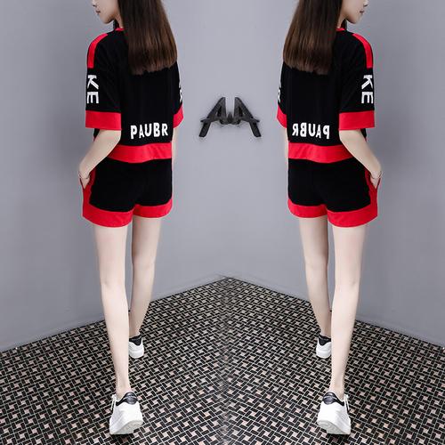 特大码女装网红套装2020年夏装新款胖妹妹200斤短裤遮肚子两件套
