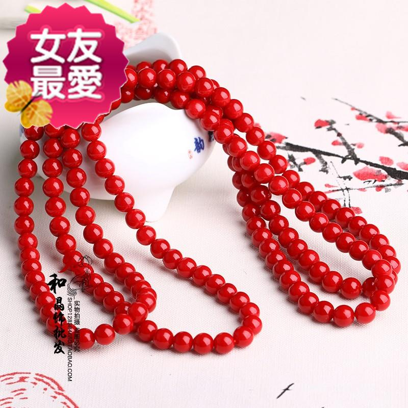 Hongshan Lake jewelry natural clothing chain bracelet womens more than 8 circles multilayer Coral Shell hand string mens and womens first jewelry