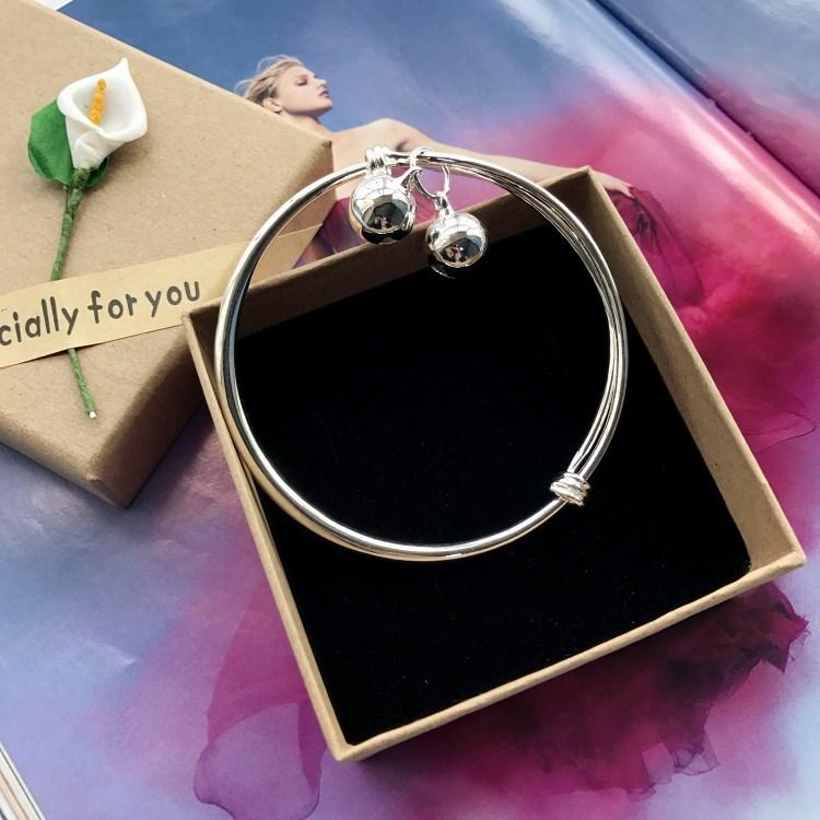 New Korean bracelet, silver fashion bracelet, girls smooth, simple and versatile temperament Bracelet