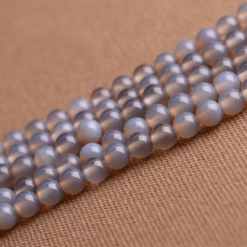 Хорошо солнце ювелирные изделия природный серый агат полуфабрикаты разброс шарик кристалл аксессуары монтаж DIY ручной работы монтаж материал