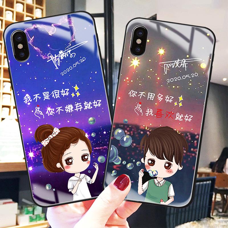 中國代購|中國批發-ibuy99|iphone|情侣卡通适用苹果vivo华为oppo等手机壳网红个性任意机型定制玻璃