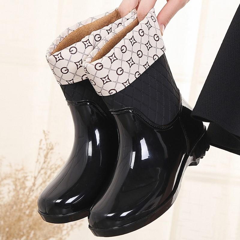 韩版防水鞋雨鞋雨靴女夏成人工作胶鞋网红新款时尚款外穿水靴防滑