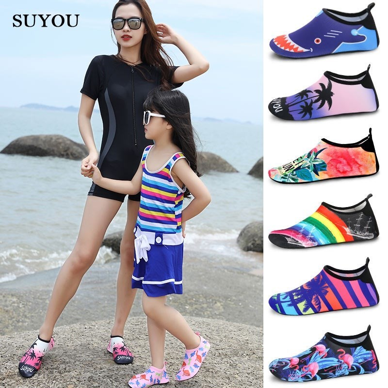 Water shoes men amphibious quick dry beach shoes wading swimming shoes for girls in stream fitness summer children dual use