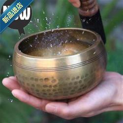 佛教修d行钵出家人吃饭用的钵3静心僧人引磬老式摆件铜碗复古冥想