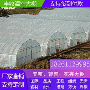 大棚钢管骨架农业蔬菜种植养殖保温简易连体连栋温室棚椭圆管配件