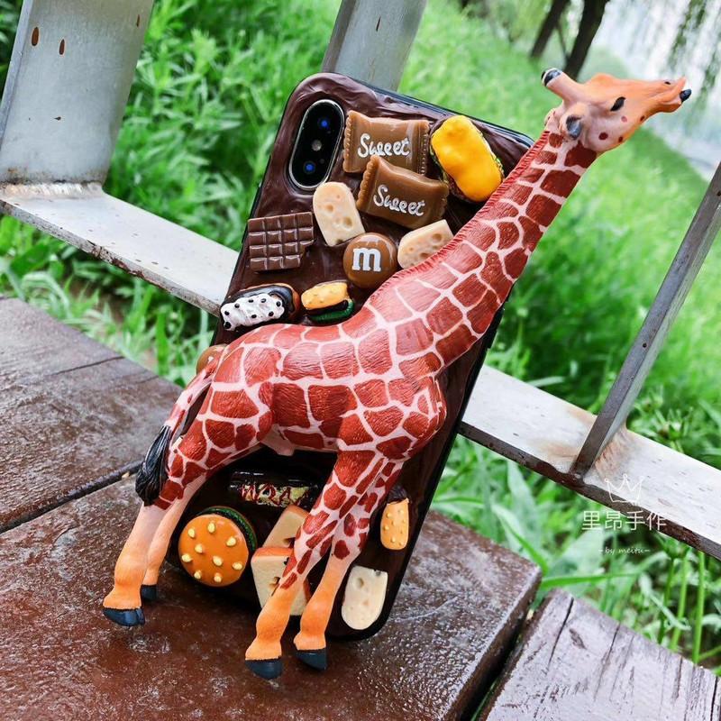 中国站立实心支架玩偶 手壳奶油胶diy材料配件里昂手作大号长颈鹿