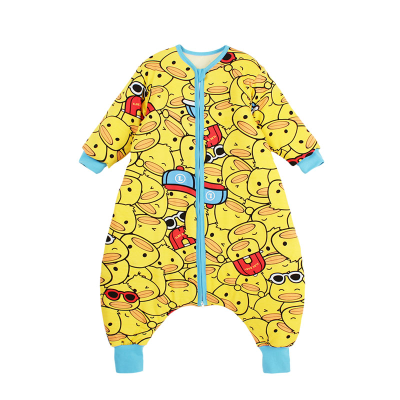 Baby sleeping bag spring and autumn baby split leg anti kick quilt thin childrens four seasons universal detachable sleeve middle and large childrens men and women