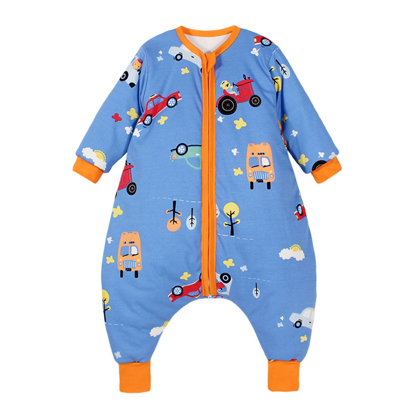 Baby sleeping bag spring and autumn and winter thin cotton with cotton large size children, the big childrens legs are separated to prevent kicking, which is thickened by male and female babies