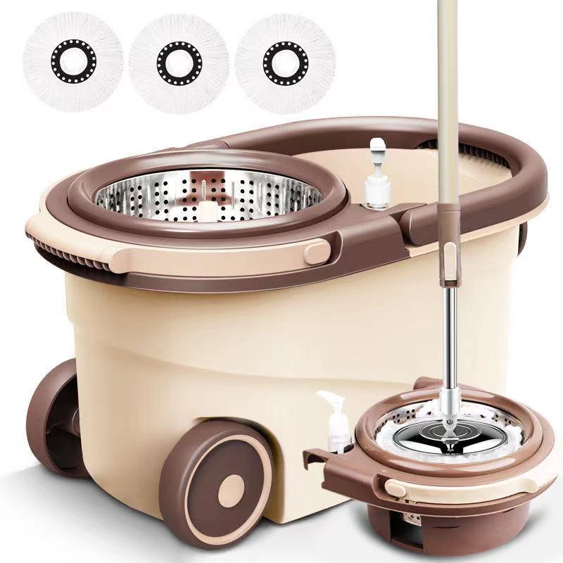 【一桶两用】加厚旋转拖把桶 拖把家用拖布干湿两用免手洗地拖