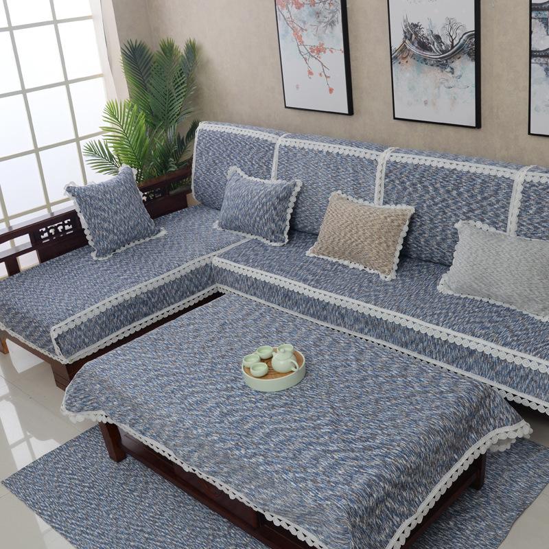 新中式沙发简约时尚四季通用防滑实木沙发沙发罩组合沙发