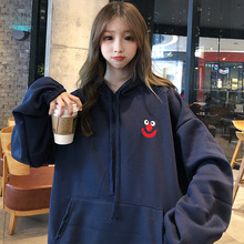 Fat mm plus fat plus size Hoodie women's winter plus Plush plus thick Korean version loose fat sister 200 Jin coat trend