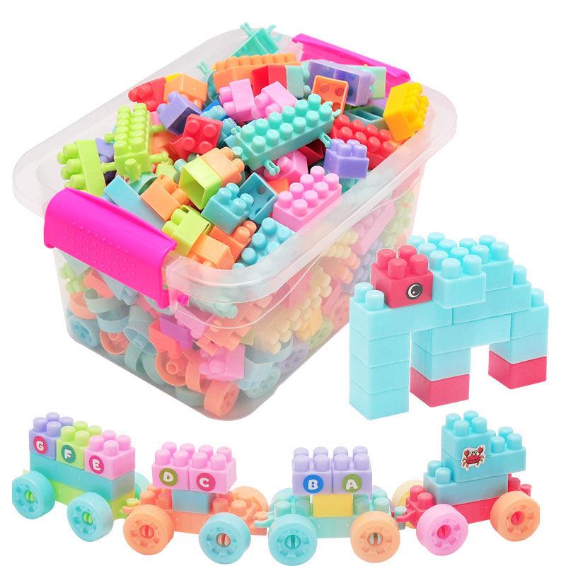 儿童大颗粒塑料益智拼搭拼装插积木1-2男女孩宝宝玩具3-6周岁积木