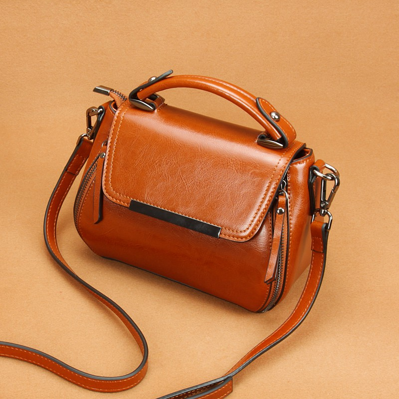 Leather Vintage doctor bag, womens small bag, cross arm carrying fairy handbag, womens new fashion in 2018