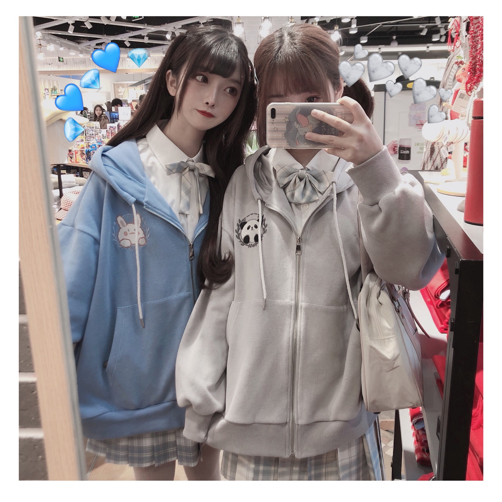 [monsters in the pavilion] original embroidery cute soft Hooded Jacket casual