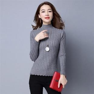 加绒加厚新款套头韩版修身毛衣