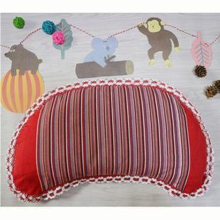 粗布儿童枕幼儿园宝宝睡眠枕头婴童护颈枕全棉枕套荞麦壳枕芯价格
