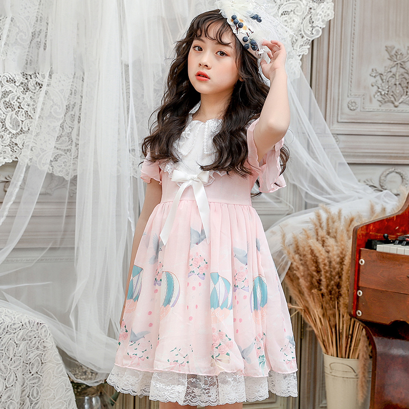 New childrens clothing Lolita skirt summer chiffon skirt children Lolita skirt Princess Dress Girls Dress