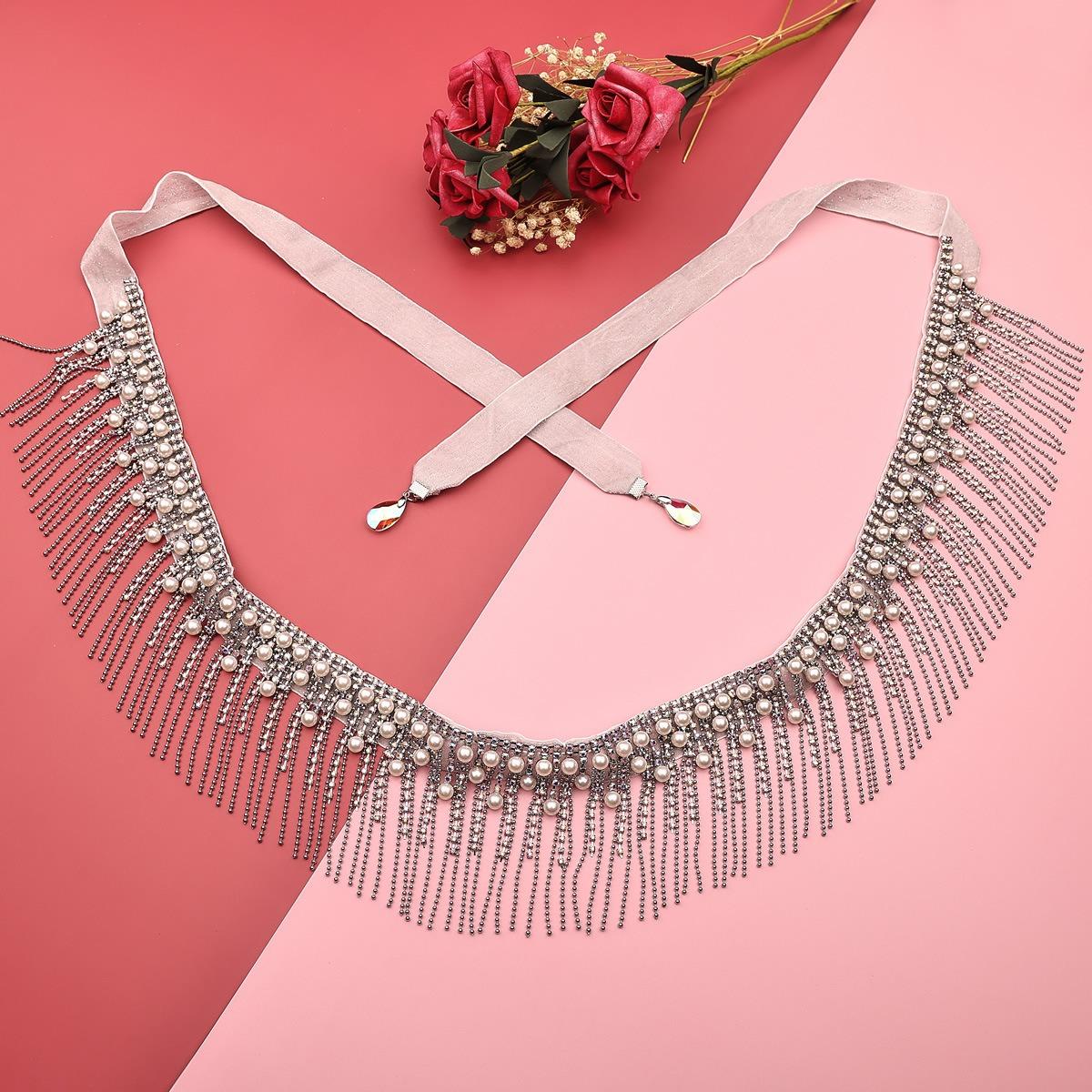 . belly dance waist chain sexy gem super flash diamond waist accessories female Oriental Dance New tassel dance navel chain