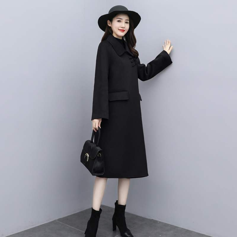 Official website: Betty Chinese woolen coat womens middle school long style