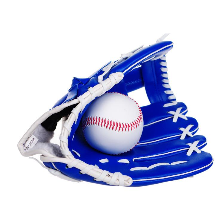 棒球手套PVC加厚 内野投手棒球手套 PU接球垒球手套 10.5寸儿童少