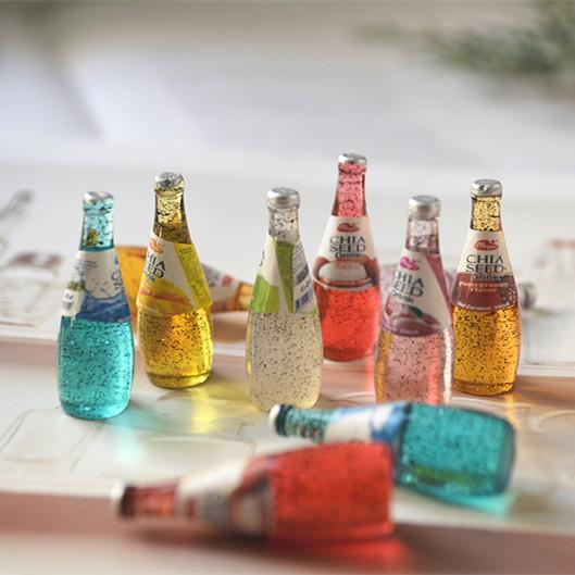 酒瓶 diy手工制作水晶滴胶凹槽手机壳 树脂饮料瓶 配件材料套装