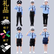 元旦儿童警察服警官衣服军装小交警幼儿园套装角色扮演男童演出服