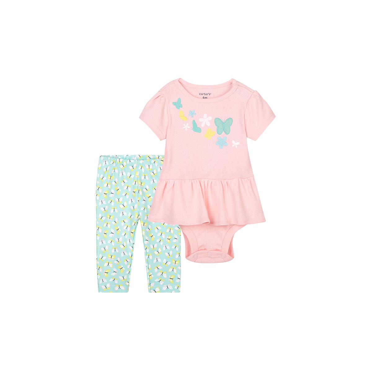Carters baby one-piece sleeveless short climbing 2-piece set of pure cotton khaki climbing suit pants skirt female baby suit
