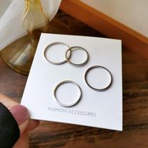 简约钛钢素圈戒指女小众设计指环ins潮时尚网红细款关节食指戒603