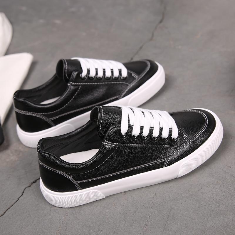 简单青少年新款帆布鞋妹子小白鞋女百搭夏天全白街头搭配一脚