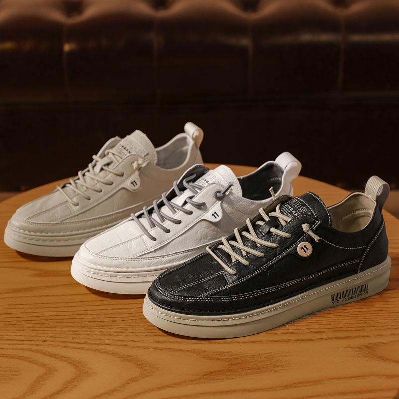 2021新款春季男鞋帆布鞋百搭男士休闲鞋潮流鞋子运动板鞋小白黑色