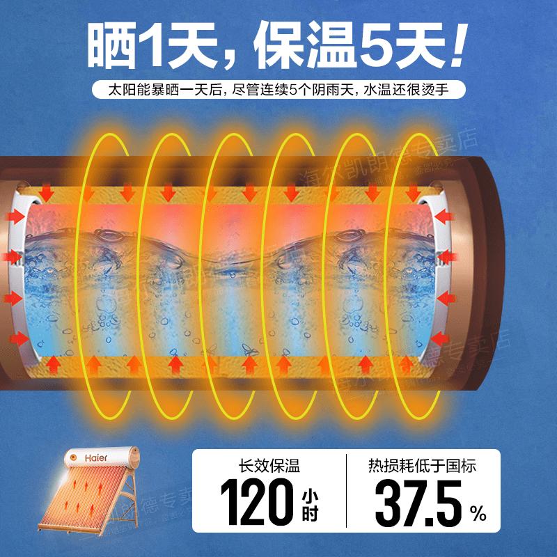 海尔太阳能热水器电加热一体家用自动光电两用电热水器包邮包安装