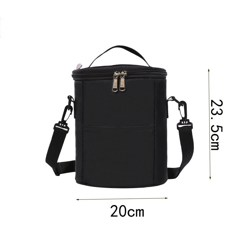 Heat preservation barrel coat thickened warm bag portable round lunch box for primary school students to keep warm and cool.