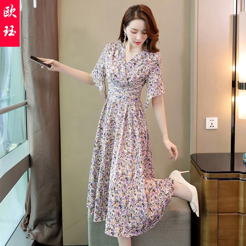 Temperament dress goddess summer dress 2020 new womens floral fashion, western fashion, leisure and fresh collocation