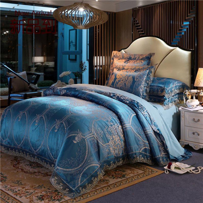北欧风大提g花婚庆床上用品四件套居家日用单双人床上用品