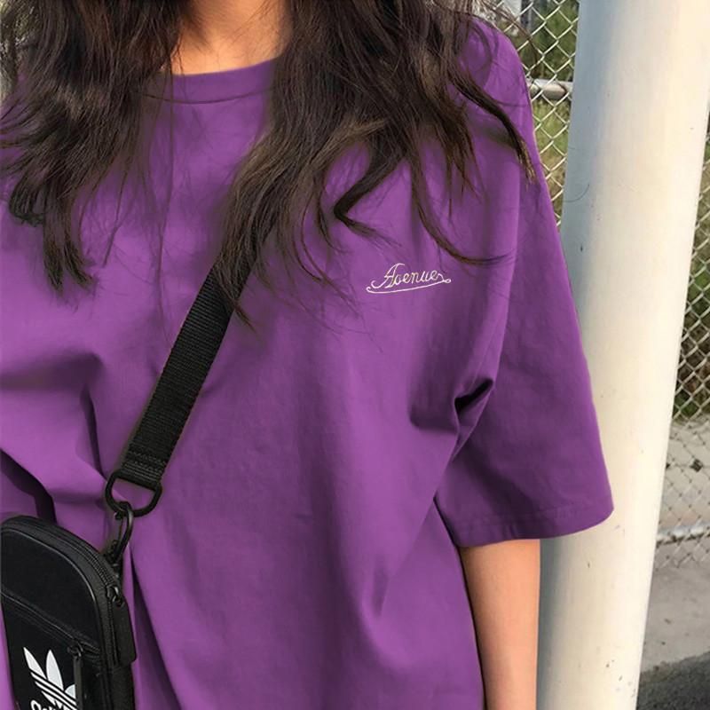 春夏装短袖t恤女ins潮2020新款韩版慵懒风bf宽松学生半袖体恤上衣