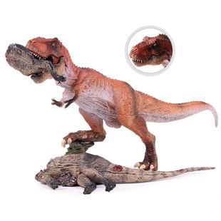 侏罗纪仿真恐龙玩具模型世界 跨境 霸王龙背棘龙撕裂腱龙尸体套装