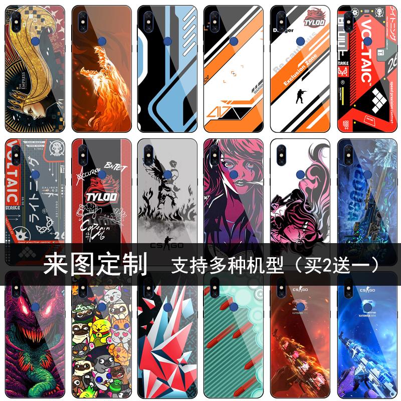 适用小米mix3 2s max3 mix手机壳二西莫夫csgo血腥运动游戏周边黑色魅影全包边保护套男款钢化玻璃镜面