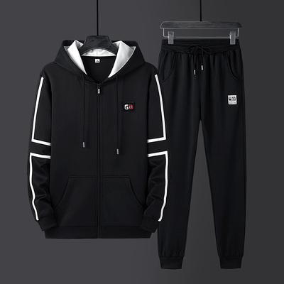 爵森马伯特秋季2020新款潮流帅气长袖卫衣套装男装休闲运动套装男